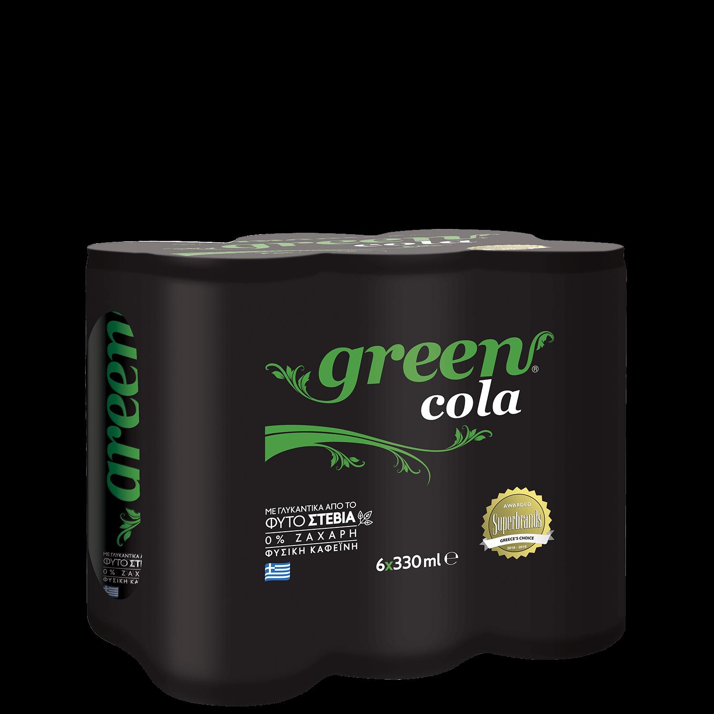 Green Cola - Πολυσυσκευασία κουτί - 6x330ml