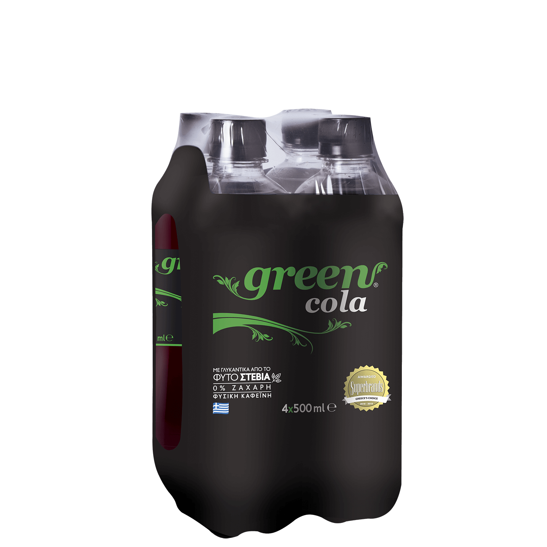 Green Cola - Πολυσυσκευασία PET - 4x500ml